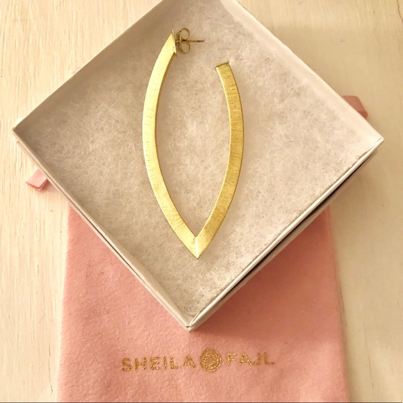 5eed61fdb64f4 Sheila Fajl Single Large Wow Hoop Earring Gold
